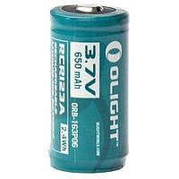 Аккумуляторная батарея Olight RCR123 (16340) 650 mAh (ORB2-163P06), фото 1
