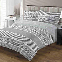 Комплект постельного белья ТЕП Cheks бязь семейный серый