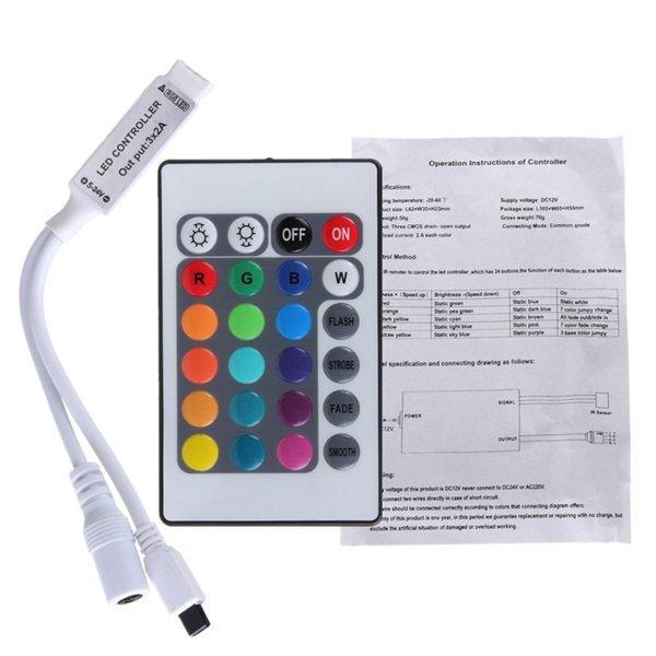 RGB контроллер 6A IR 72W 12V 24 кнопки для светодиодной ленты.