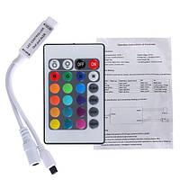 RGB контроллер 6A IR 72W 12V 24 кнопки для светодиодной ленты., фото 1