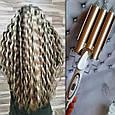 Тройная плойка для завивки волос в локоны Geemy_ 1988🔝, фото 4