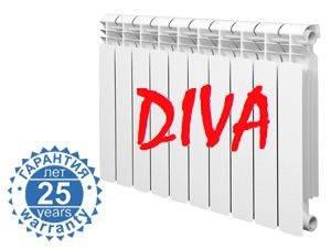 Биметаллический радиатор отопления (батарея) 500x96 Diva, фото 2
