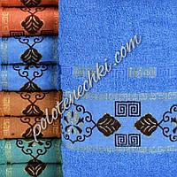 Махровое лицевое полотенце Узор с листиком