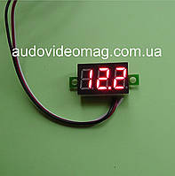 Вольтметр DC 0-30V для постоянного тока, цвет цифр - красный