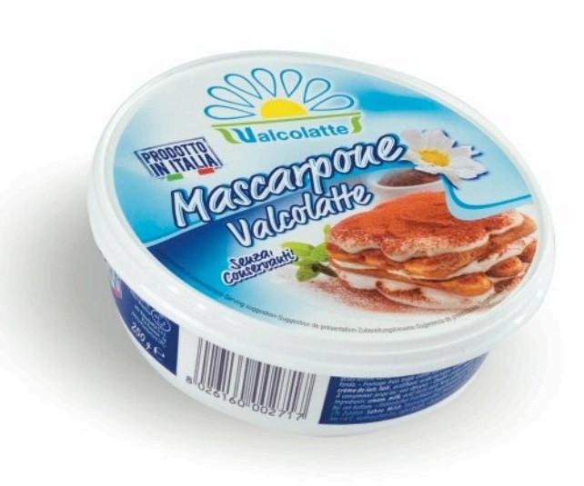 Сыр Mascarpone Valcolatte 250 г Италия