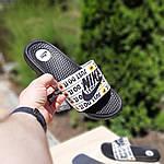 Мужские шлепанцы на лето Nike Just Do IT массажные (черные) 40018, фото 6