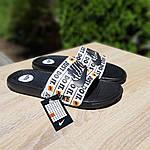 Мужские шлепанцы на лето Nike Just Do IT массажные (черные) 40018, фото 7