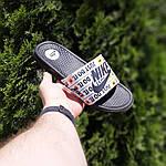 Чоловічі капці на літо Nike Just Do IT масажні (чорні) 40018, фото 8