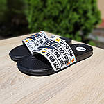 Чоловічі капці на літо Nike Just Do IT масажні (чорні) 40018, фото 2