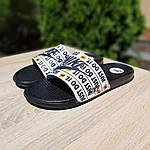 Мужские шлепанцы на лето Nike Just Do IT массажные (черные) 40018, фото 2
