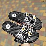 Мужские шлепанцы на лето Nike Just Do IT массажные (черные) 40018, фото 4