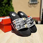 Чоловічі капці на літо Nike Just Do IT масажні (чорні) 40018, фото 5