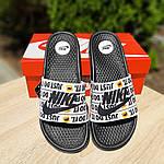 Мужские шлепанцы на лето Nike Just Do IT массажные (черные) 40018, фото 9