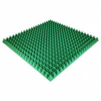 Панель из акустического поролона Ecosound Pyramid Color 70 мм, 100x100 см, зеленая