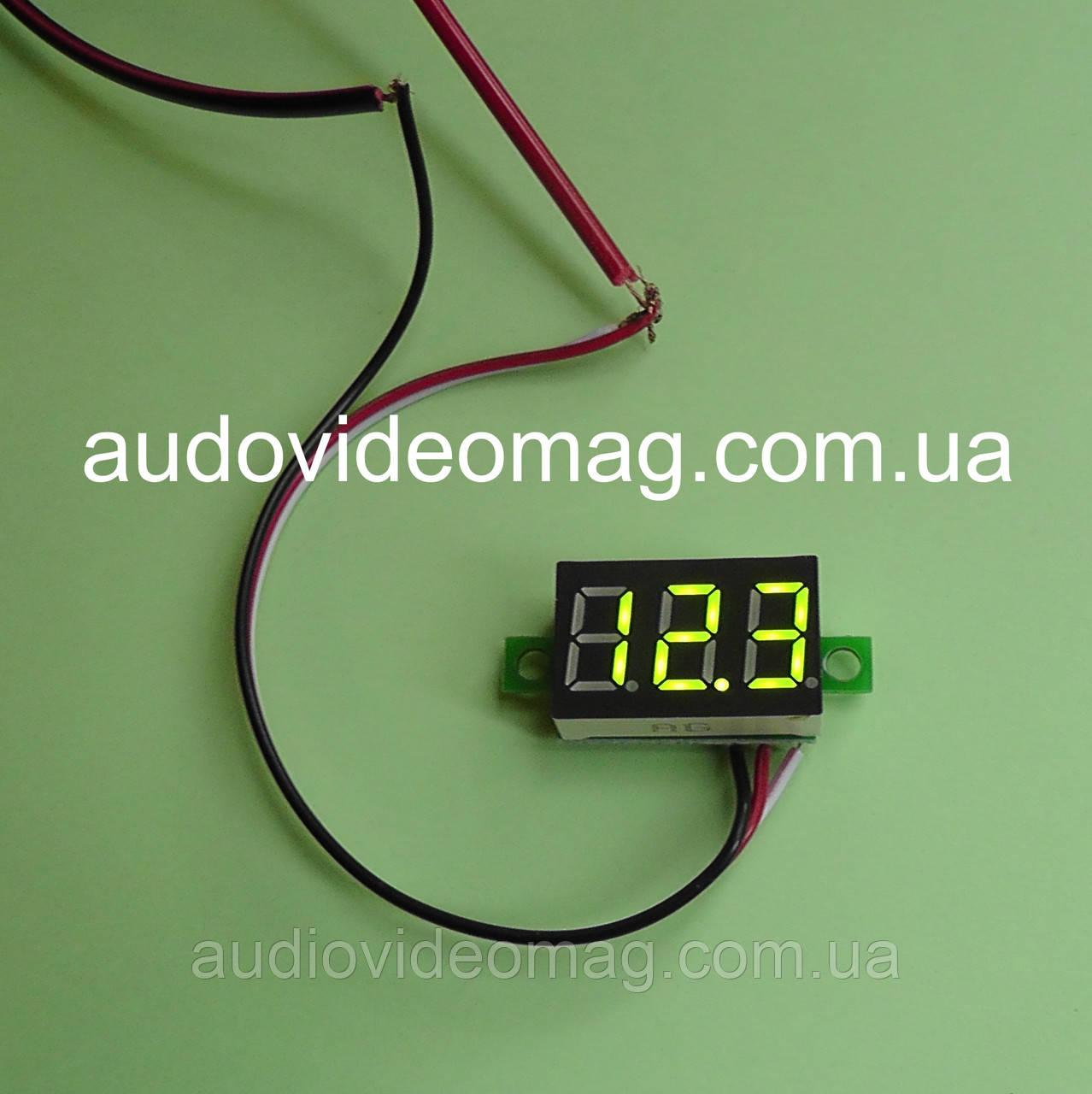 Вольтметр DC 0-30V для постоянного тока, цвет цифр - зеленый