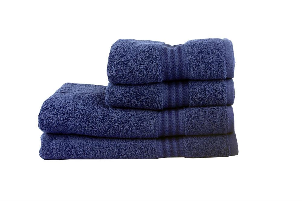 Полотенце махровое HOBBY 50х90 хлопок RAINBOW темно-синий 1шт