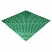 Панель из акустического поролона Ecosound Pyramid Color 20 мм, 100x100 см, зеленая