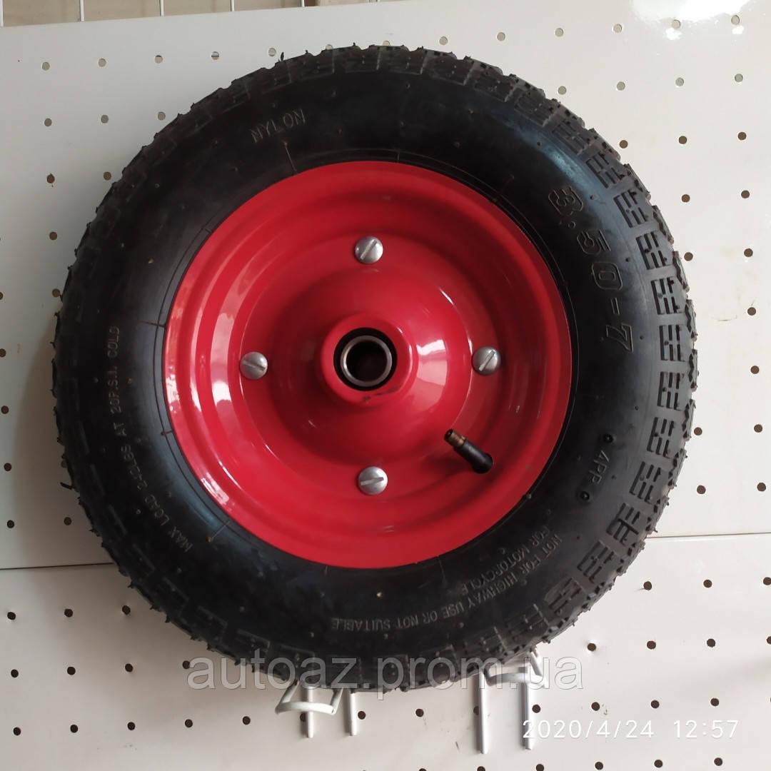 Колесо для тачки пневматична 3.50-7 діаметр 345 мм