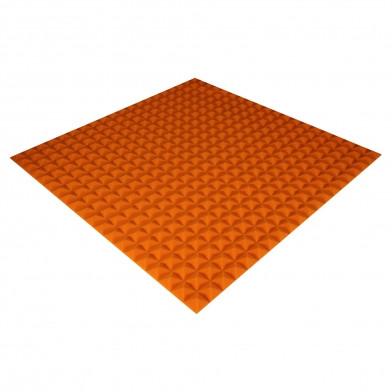Панель из акустического поролона Ecosound Pyramid Color 20 мм, 100x100 см, оранжевая