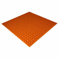 Панель з акустичного поролону Ecosound Pyramid Color 20 мм, 100x100 см, помаранчева