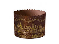 Формы для куличей — Опт - Храм золотой 70х85 мм - 2400 шт