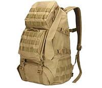Рюкзак тактический B35 50 л, песочный, фото 1