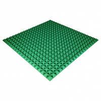 Панель из акустического поролона Ecosound Pyramid Color 25 мм, 100x100 см, зеленая