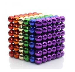 Головоломка Neocube развивающий конструктор Неокуб в боксе 216 магнитных шариков 5 мм Радужный (26512)