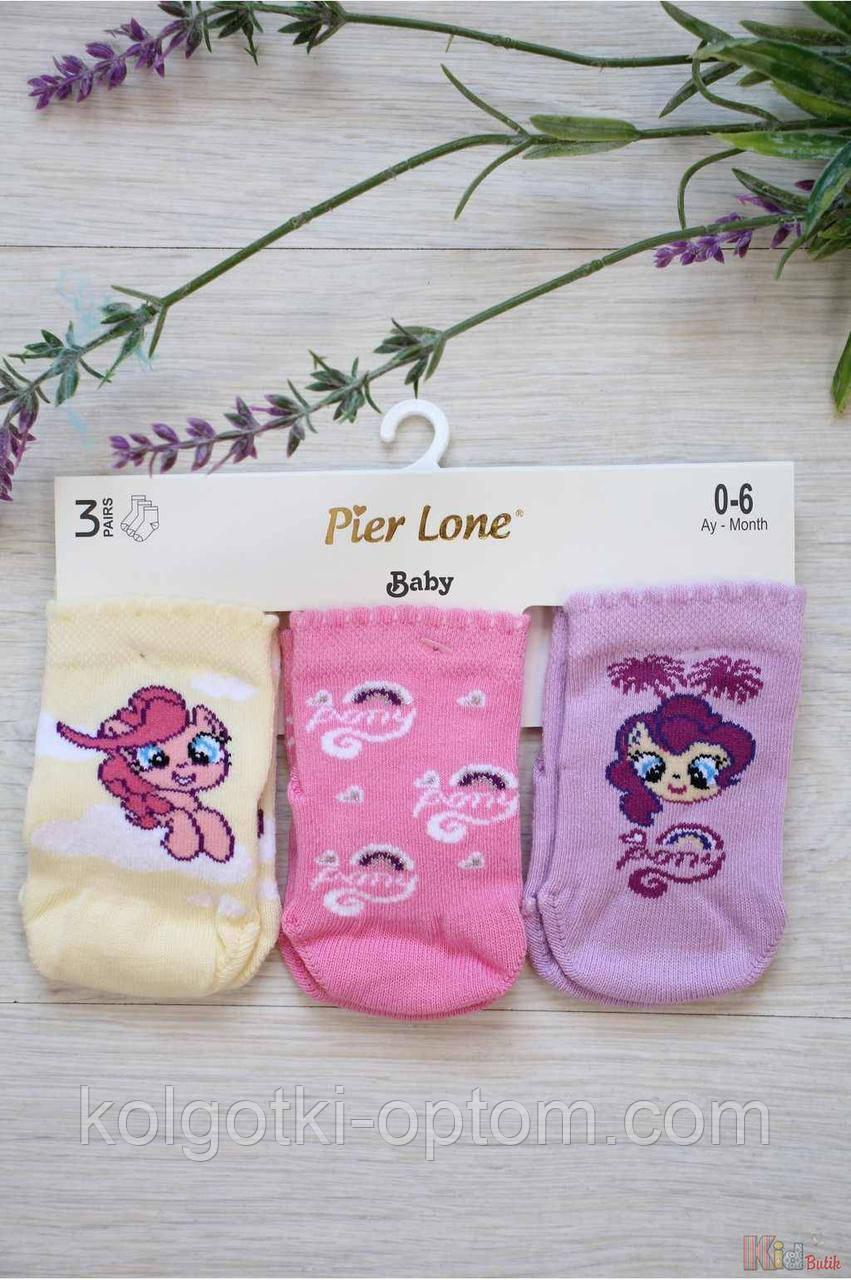ОПТОМ Набор носочков с пони для маленькой девочки (8 / 3-6 мес.)  Pier Lone 8681788318789