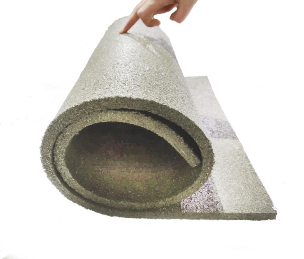 Мат коврик гумовий 10 мм 1 шт. сірий (108х50 см)