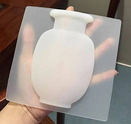 Силиконовая настенная ваза для цветов Arivans 15x15x2 см белый