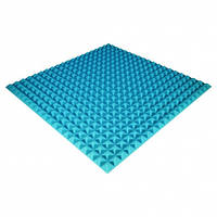 Панель из акустического поролона Ecosound Pyramid Color 30 мм, 100x100 см, синяя