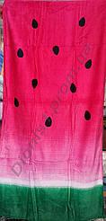 Пляжное полотенце АРБУЗИК велюр размер 75*150 (380 ГРАММ)