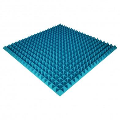 Панель из акустического поролона Ecosound Pyramid Color 50 мм, 100x100 см, синяя