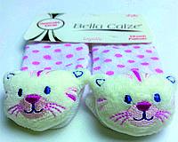 Хлопковые носочки с игрушкой на мыске для детей от рождения до 6 месяцев