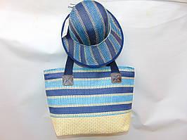 "Женская сумка-шоппер + шляпка (43х33см)  ""Johnny"" LG-1519"