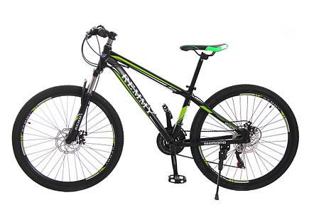 Велосипед 26 Remmy ASTOR 15 AM DD чорно-зелений (м), фото 2