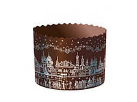 Формы для куличей — Опт - Храм серебро 90х90 мм - 1800 шт