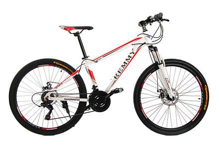 Велосипед 26 Remmy ASTOR 15 AM DD біло-червоний глянець, фото 2