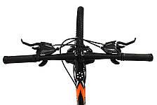 Велосипед 24 Remmy LOСRI 13 AM DD чорно-помаранчевий (м) AL, фото 2