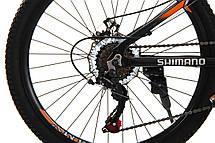 Велосипед 24 Remmy LOСRI 13 AM DD чорно-помаранчевий (м) AL, фото 3