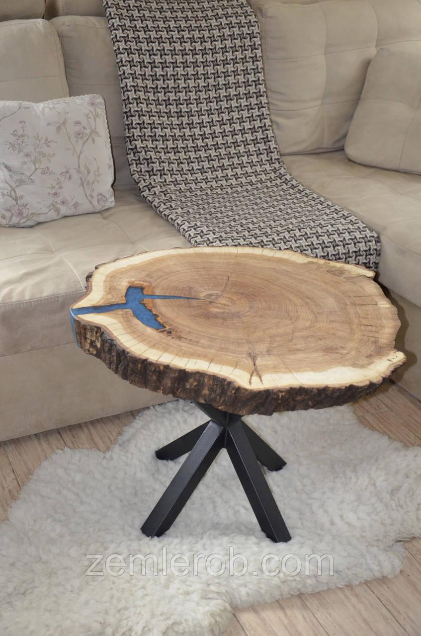 Стол из дубового слэба