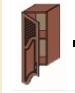 Кухня Юля 300 В фигур решетки ПР береза тундра золото (НОВА)
