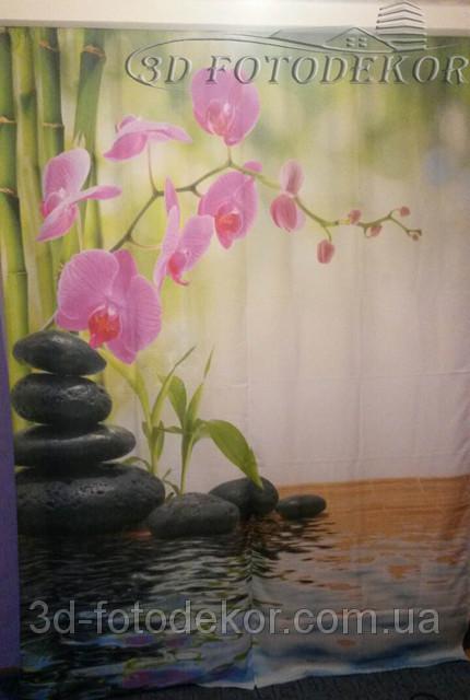 Фото Шторы Орхидея на камнях