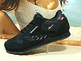 Мужские кроссовки Reebok classic (реплика) черные 42 р., фото 2