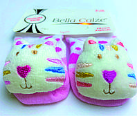 Хлопковые носочки с игрушкой на мыске для детей от 6 месяцев до 12 месяцев