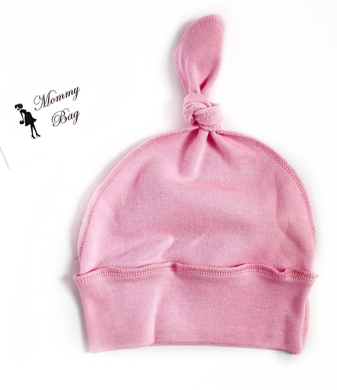 Шапочка Baby Body 0-6 мес Розовая №21