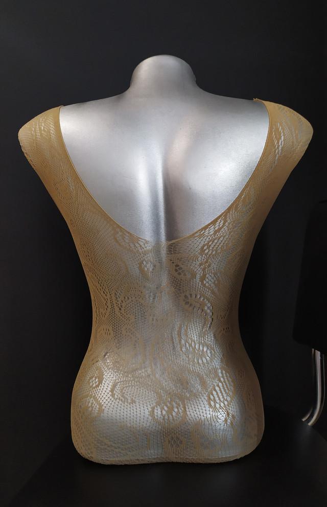 Эротический боди-комбинезон для женщин бежевого цвета, размер S-L