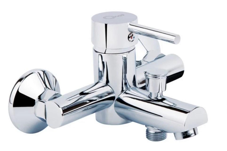 Однорычажный латунный смеситель для ванны цвет хром Q-Tap Spring CRM 006