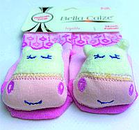 Хлопковые носочки с игрушкой на мыске для детей от 6 месяцев до 12 месяцев Розовые с Коровкой